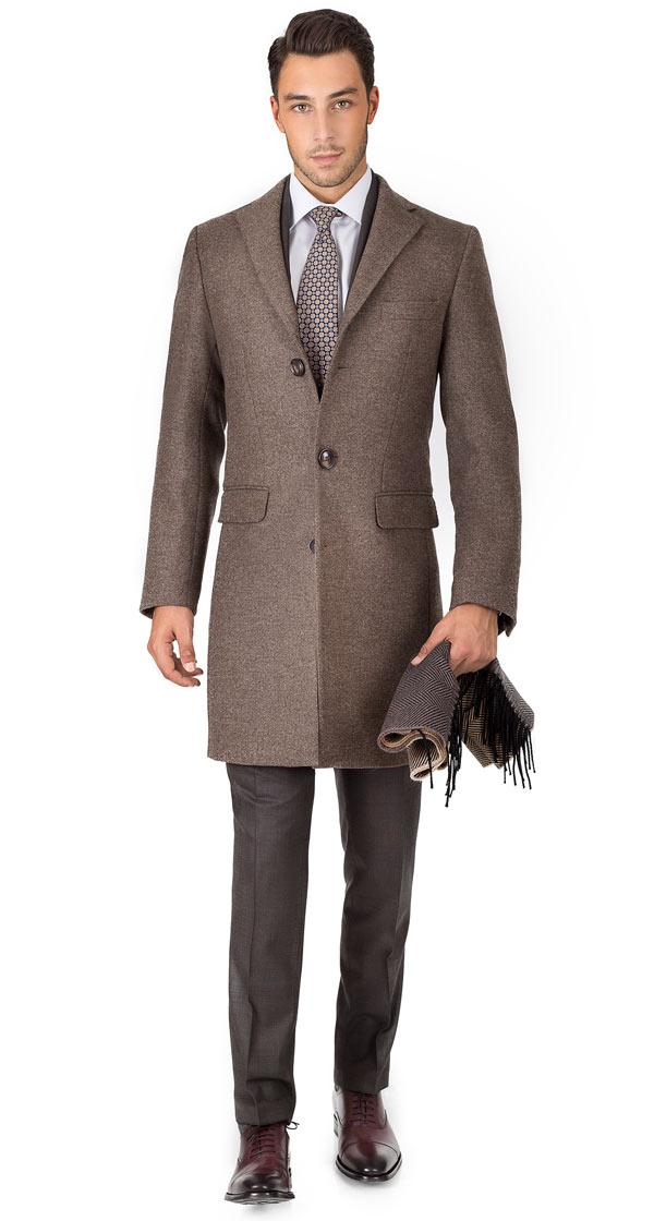 THE W. Coat in Brown Wool-Cashmere