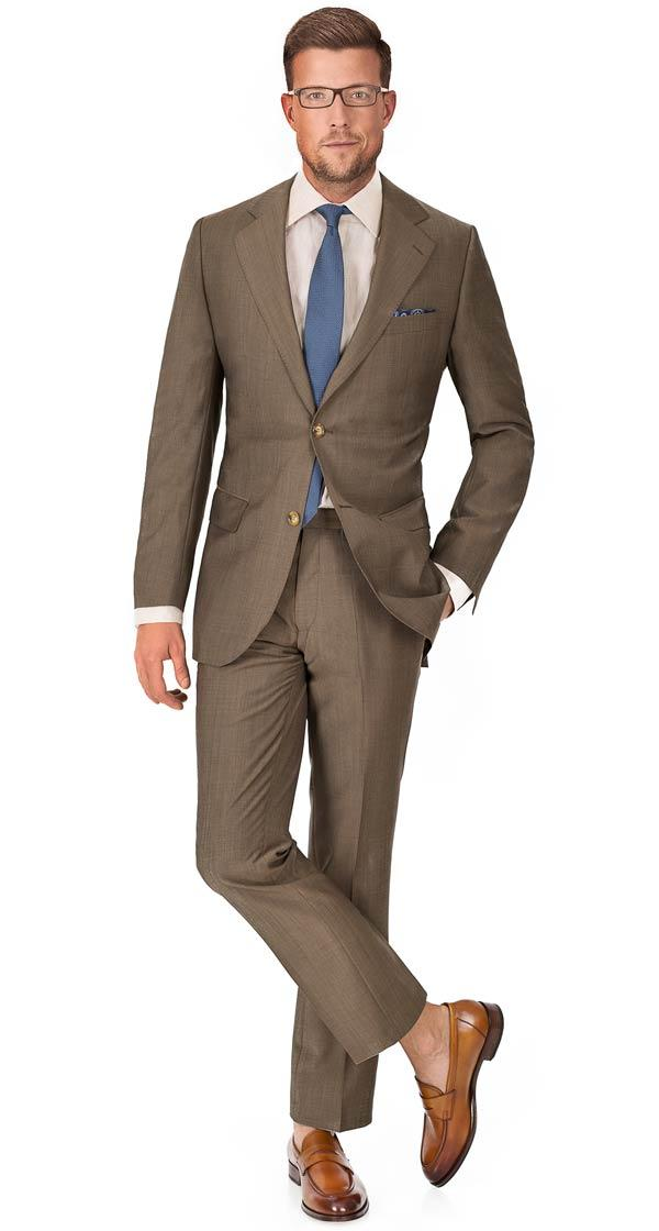Light Brown Wool & Mohair Suit
