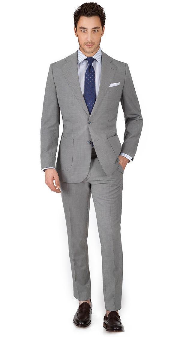 Vendetta Premium Grey Houndstooth Suit
