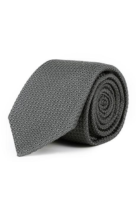 Warm Grey 100% Grenadine Silk Tie