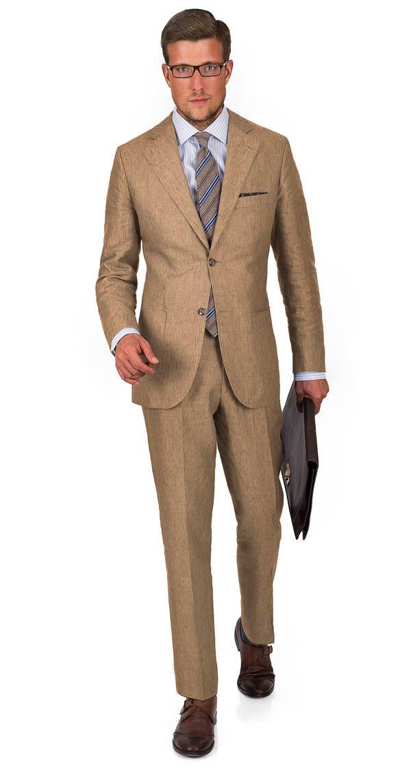Intense Khaki Linen Suit