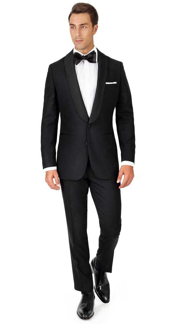Black Hopsack Natural Stretch Tuxedo