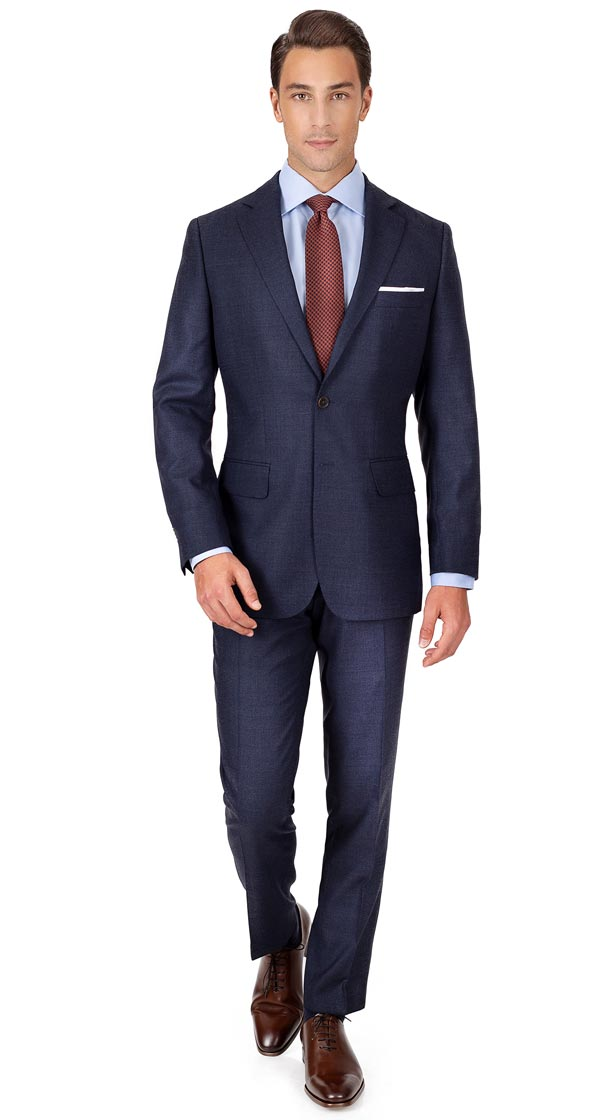 Denim Blue Birdseye Natural Stretch Suit
