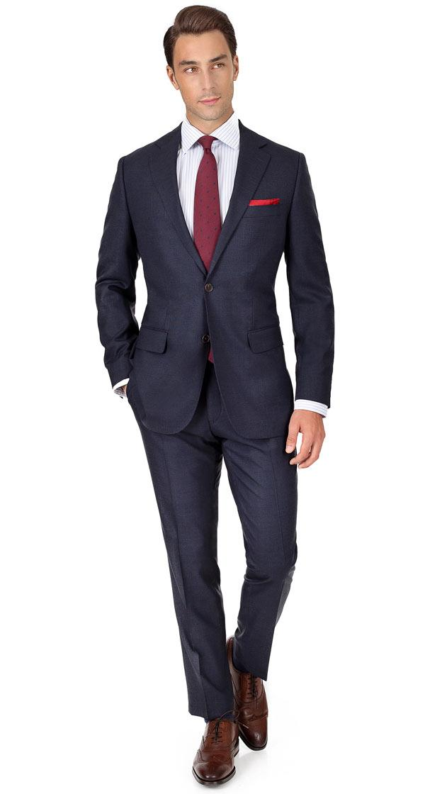 Charcoal Blue Melange Natural Stretch Suit