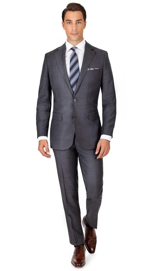 THE W. Suit in Dark Grey Pick & Pick Wool