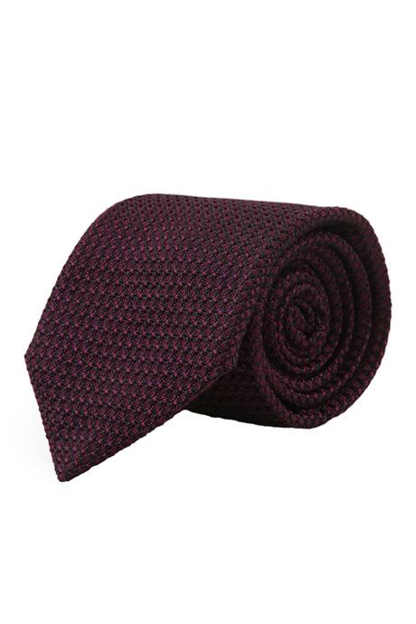 Purple 100% Grenadine Silk Tie