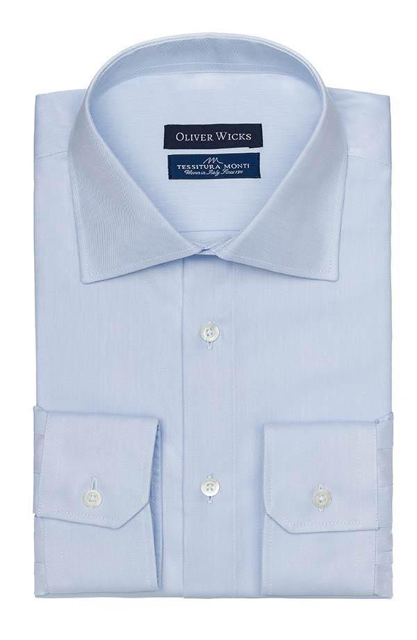 Light Blue Cotton Twill Shirt