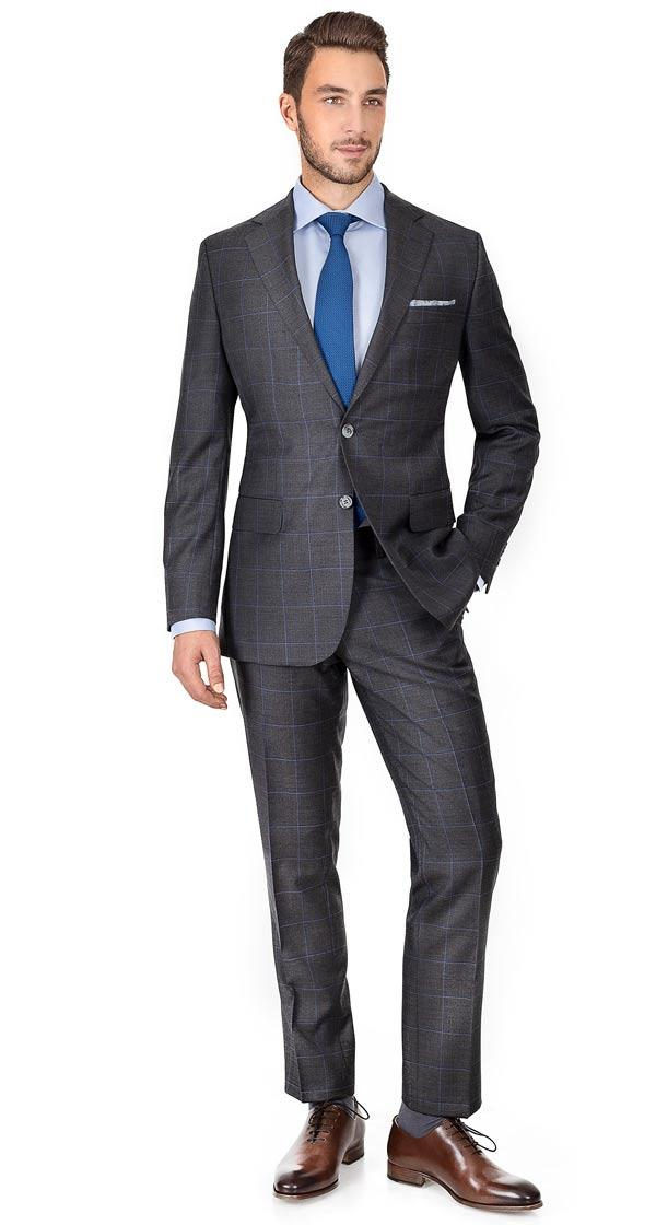 Grey Windowpane Pick & Pick Suit