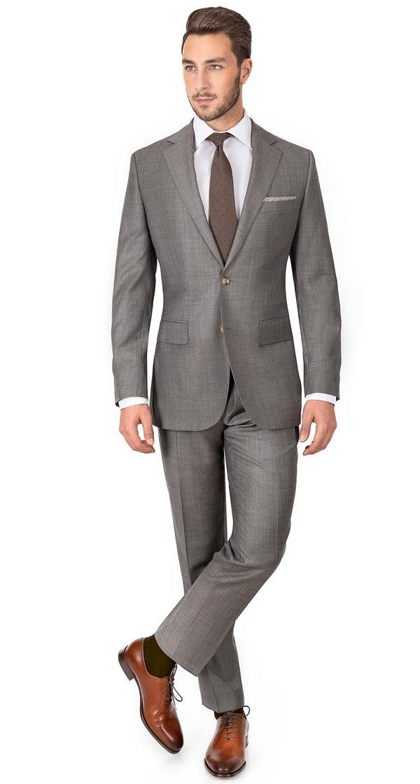 Warm Grey Pick & Pick Suit