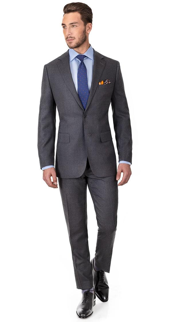 Grey Hopsack Natural Stretch Suit