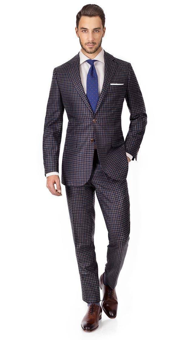 Grey Guncheck Wool & Cashmere Suit