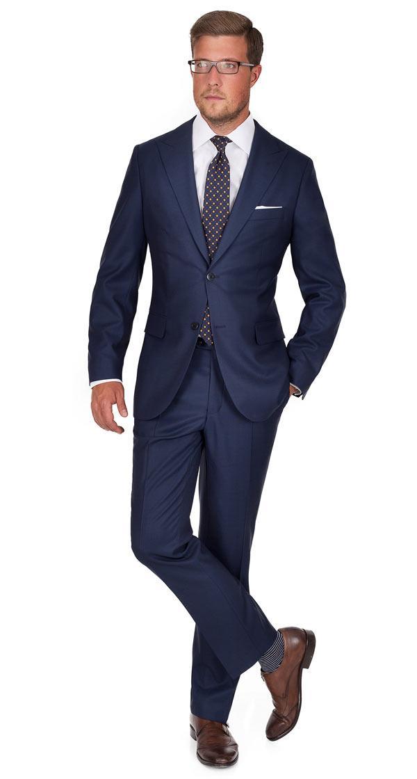 Suit in Navy Birdseye Wool