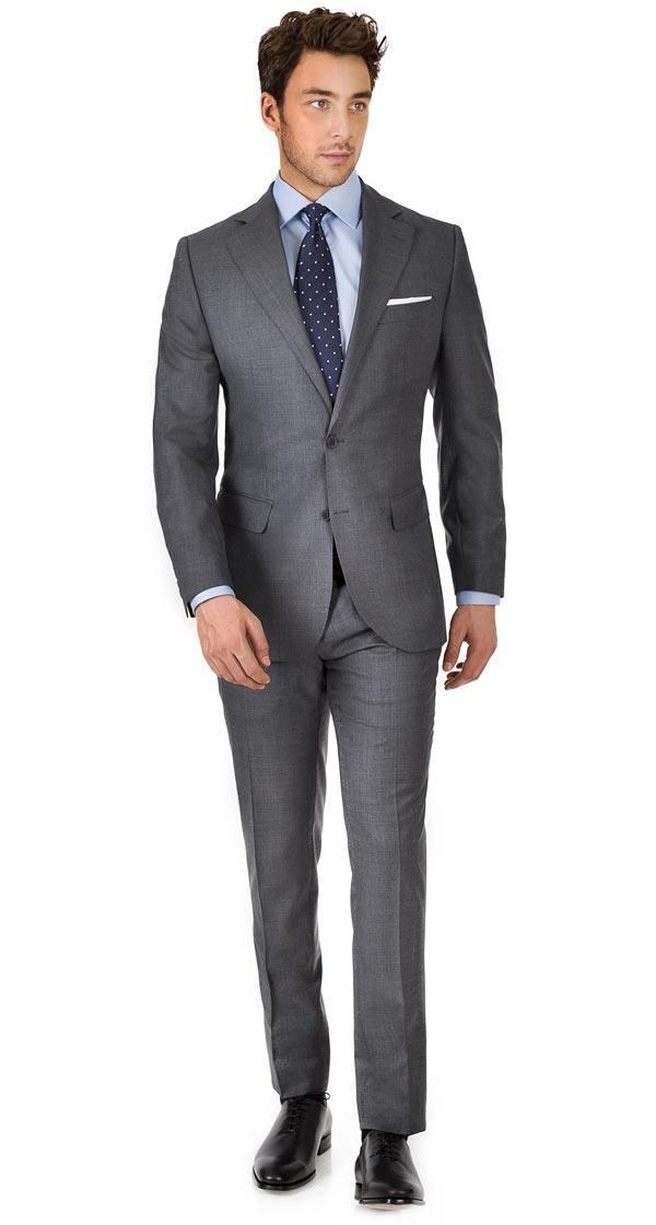 Suit in 150s Dark Grey Pick & Pick Wool