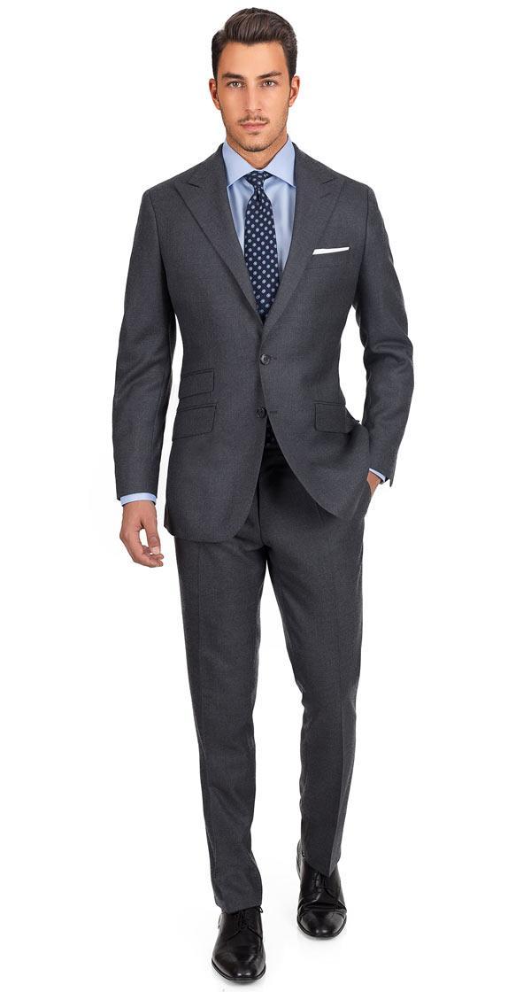 Suit in 11 oz Grey Twill Wool