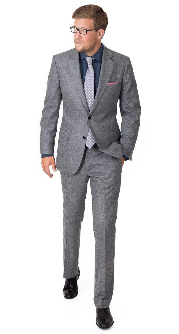 Suit in Grey Wool Flannel