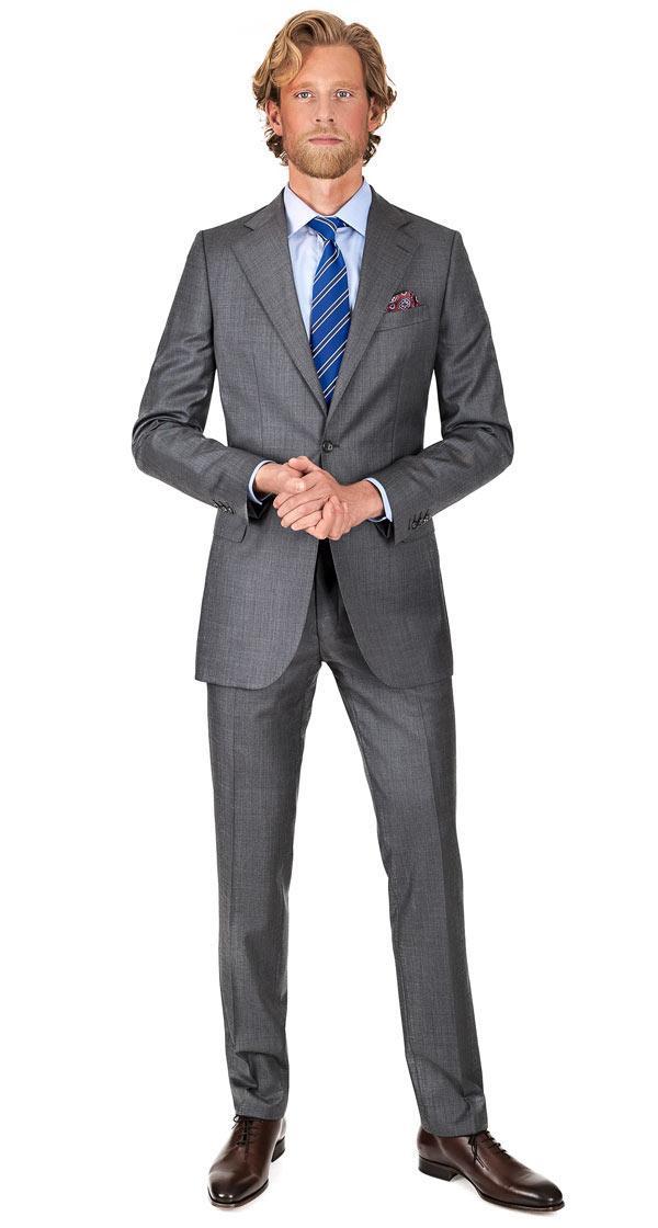 Suit in 140s Grey Pick & Pick Wool