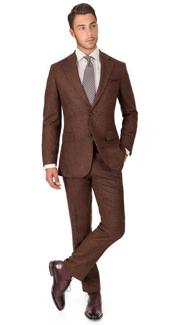 Suit in Copper Brown Donegal Tweed
