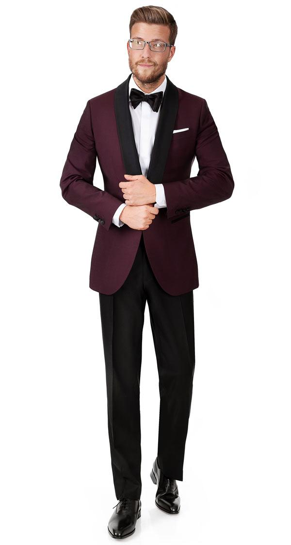 Burgundy Wool & Mohair Dinner Suit