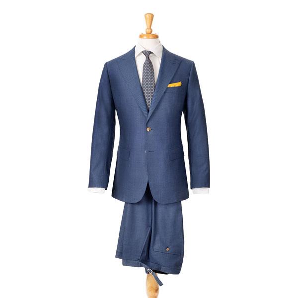 Vendetta Steel Blue Birdseye Suit