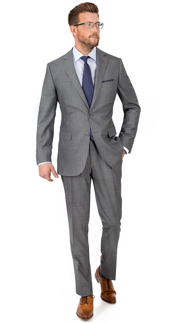 Vendetta Grey Birdseye Suit