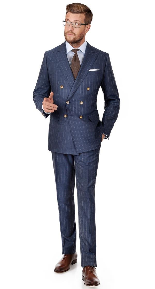 Vendetta Sky Blue Stripe Suit
