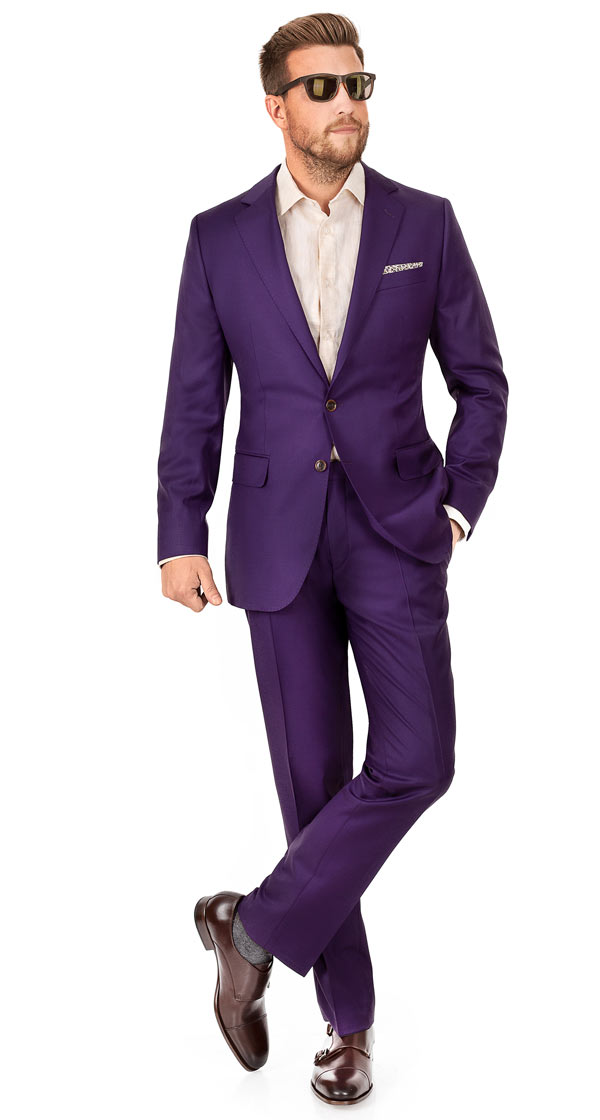 Solid Plum Suit