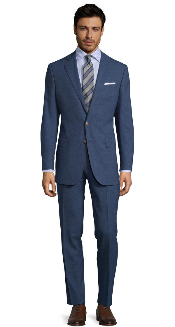 Blue Natural Stretch Suit