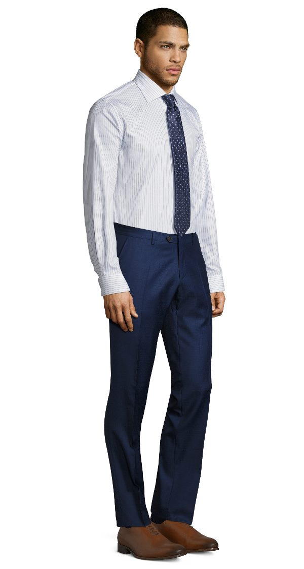 Intense Blue Pick & Pick Dress Pants