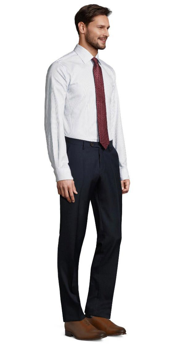 Navy Blue Pick & Pick Dress Pants
