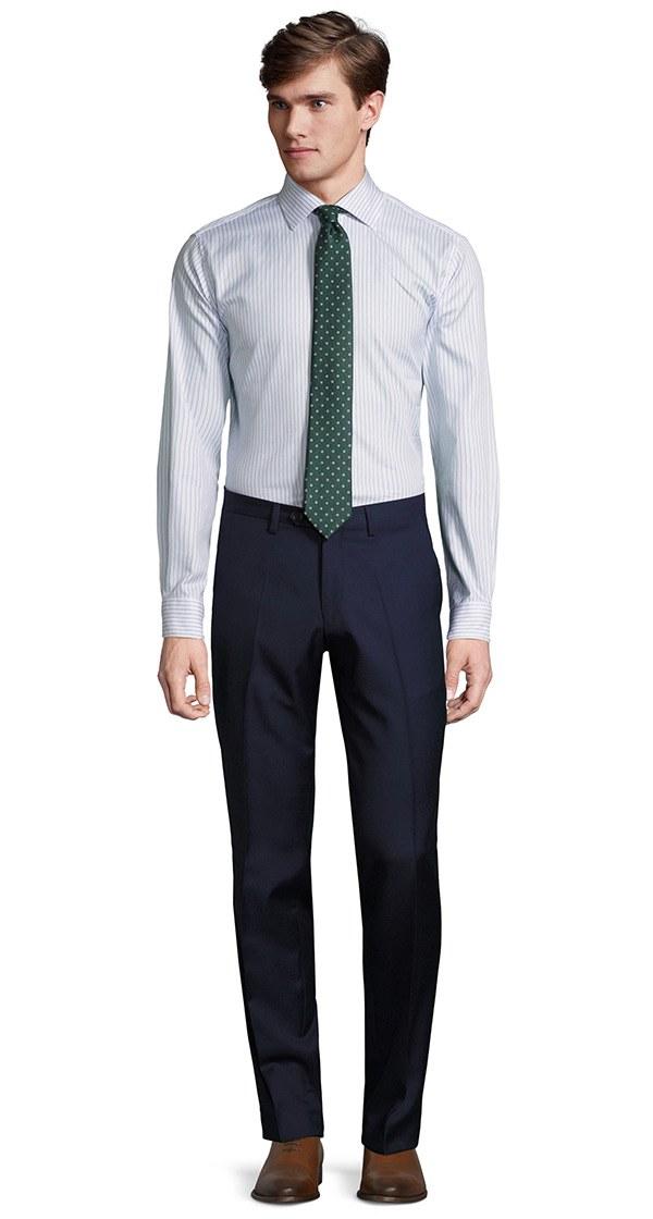 Deep Blue Pick & Pick Dress Pants