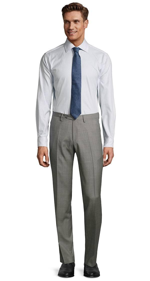 Light Grey Pick & Pick Dress Pants