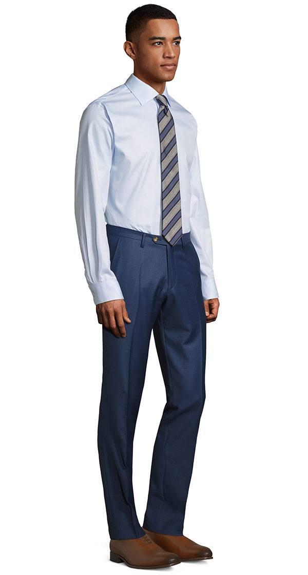 Sky Blue Pick & Pick Dress Pants
