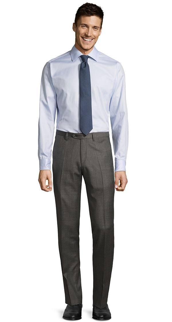 Grey Pick & Pick Dress Pants