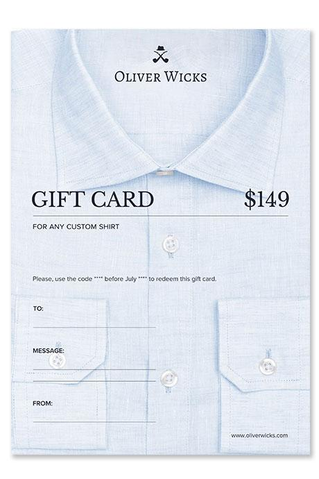 $149 / €139 Custom Shirt e-Card