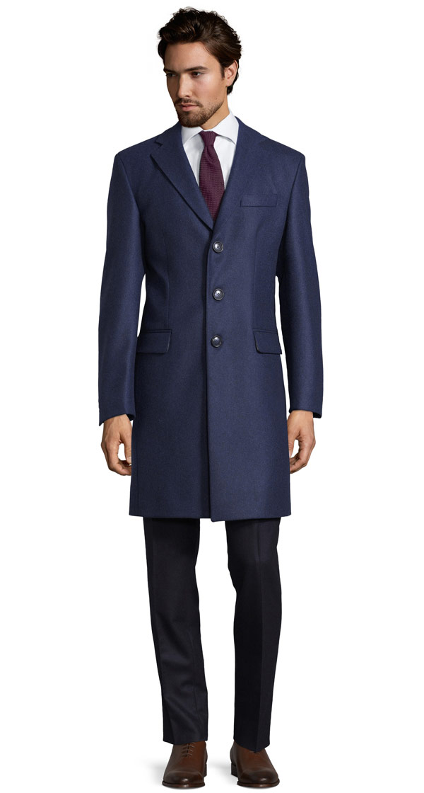 THE W. Coat in Solid Navy Wool
