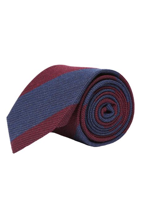 Blue & Red Grenadine Silk Tie