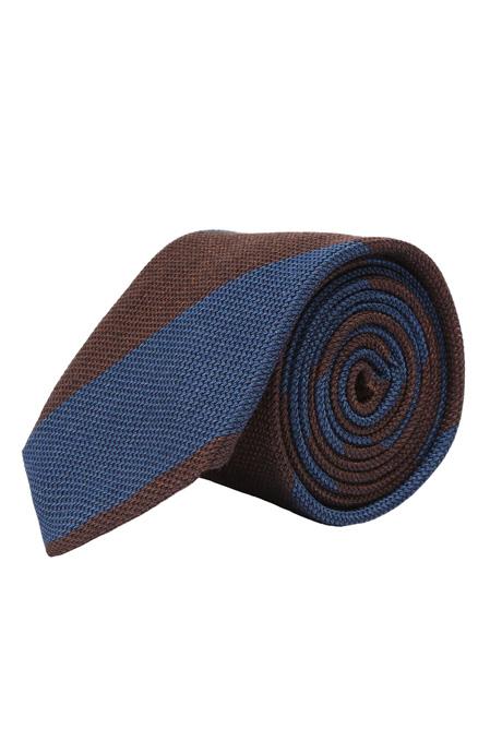 Blue & Brown Grenadine Silk Tie