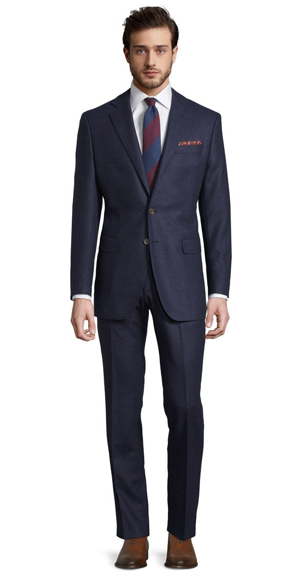 Navy Twill Wool & Cashmere suit