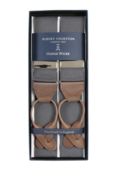 Dark Grey Suspenders