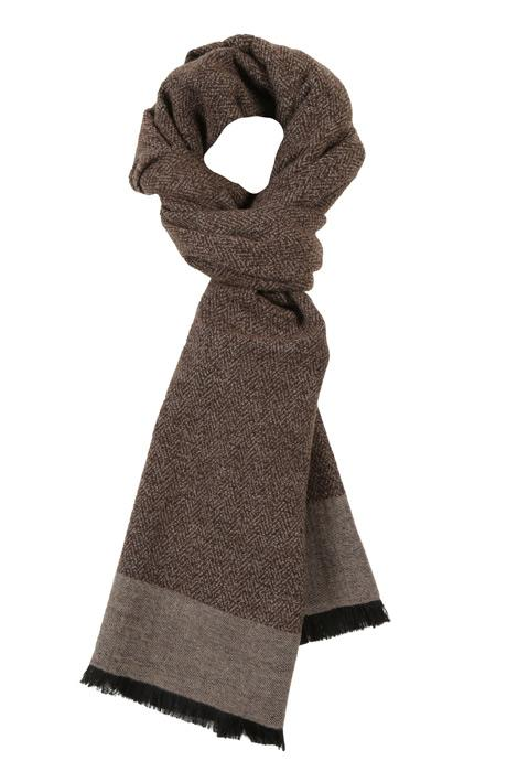 Beige Wool & Silk scarf
