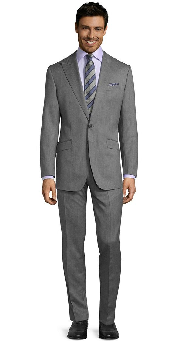 Vendetta Premium Grey Herringbone Suit