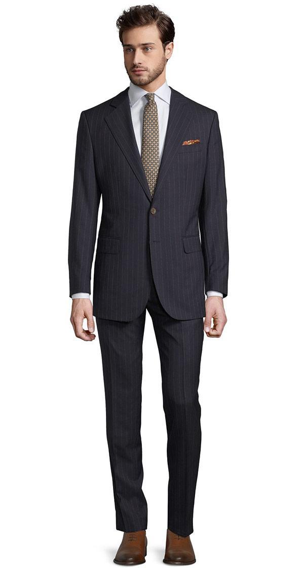 Vendetta Premium Navy Pinstripe Suit