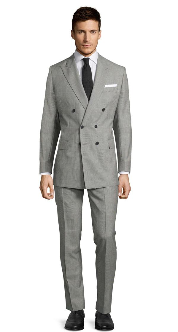Vendetta Premium Grey Prince of Wales Check Suit
