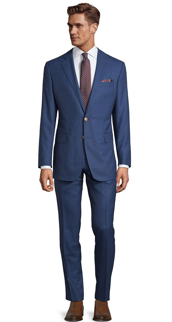 Vendetta Premium Intense Blue Birdseye Suit