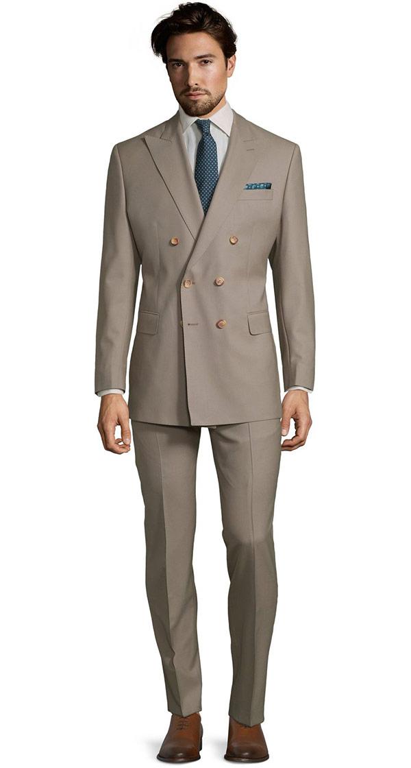 Vendetta Premium Solid Light Camel Suit