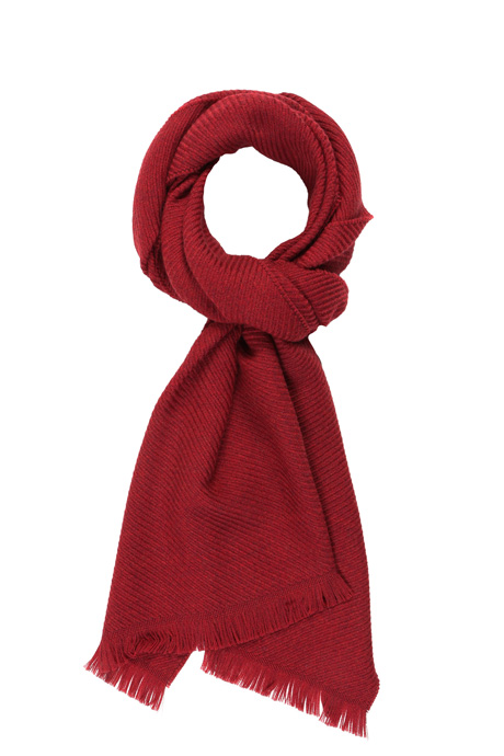 Solid Red Wool Scarf