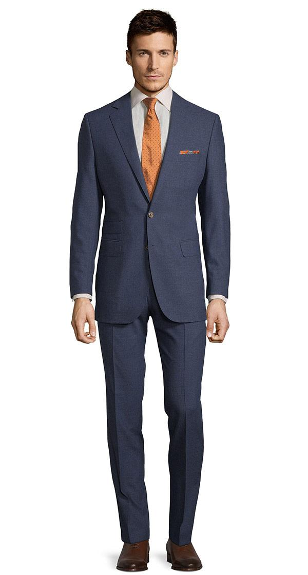 Tropical Chine Ocean Blue Suit