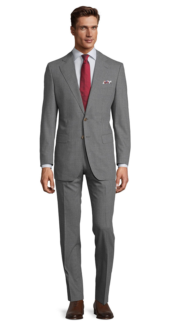 Tropical Chine Ash Grey Suit