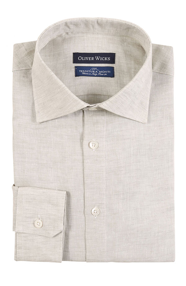 Khaki Green Linen Shirt