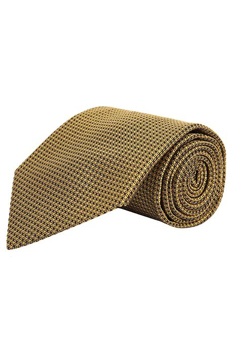 Gold Hopsack Silk Tie